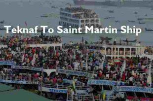 Teknaf To Saint Martin Ship Ticket Price Schedule [2020]
